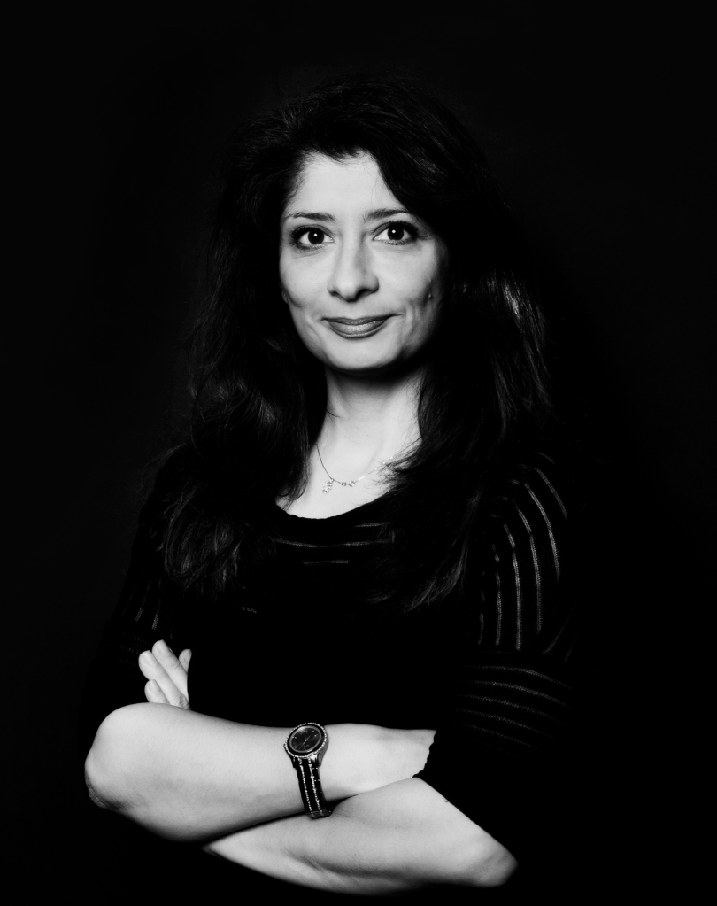 "Shappi Khorsandi at the Milford on Sea ""Comedy and Cake"" night"