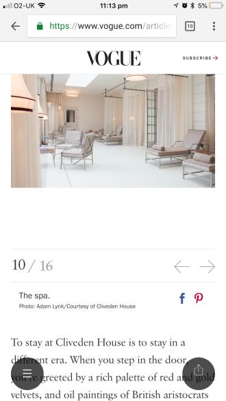 Cliveden Vogue
